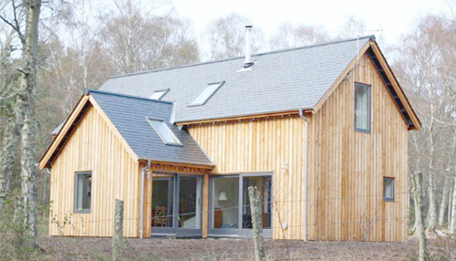 Energy-Efficient Larch Woodland Home